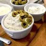 crema pecorino e olive