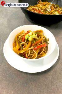 wook di noodles con verdure